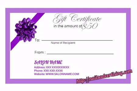 Picture for category FREE Nail Gift Cards